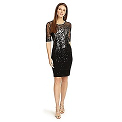 Phase Eight - Black 'Orlena' ombre sequin knitted dress