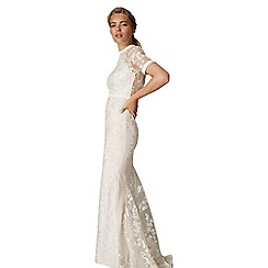 Phase Eight - Natural poppy embroidered bridal dress