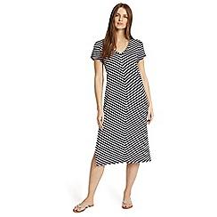 Phase Eight - Blue chantelle chevron beach dress