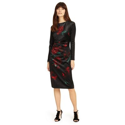 Phase Eight   Black 'fenella' Print Dress by Phase Eight