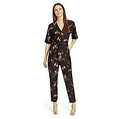 Phase Eight - Black flora jumpsuit