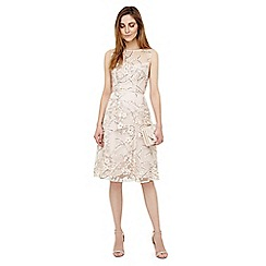 Phase Eight - Ivory sable embroidered dress
