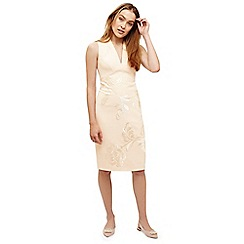 Phase Eight - Cream ruby embroidered dress