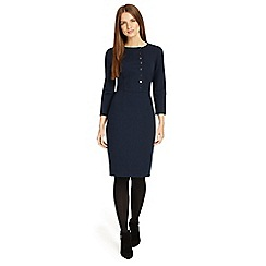 Phase Eight - Navy blue Leanne button dress