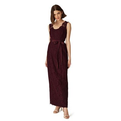 Phase Eight   Red Amy Lace Maxi Dress by Phase Eight