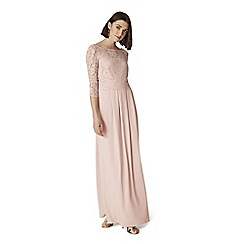 Phase Eight - Pink portia lace maxi dress