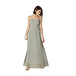 Phase Eight - Blue sabrina lace pleated maxi dress