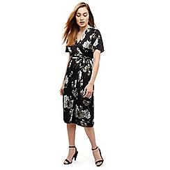 Phase Eight - Black tasha floral wrap dress