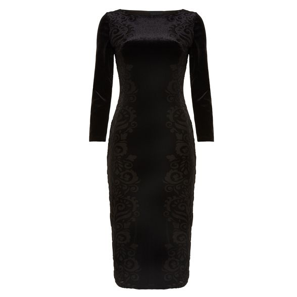 burnout 'Petra' dress Black Eight floral Phase velvet wqUagXS