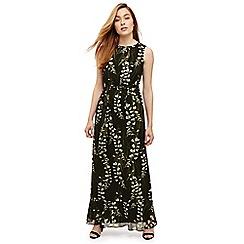Phase Eight - Black valencia floral maxi dress