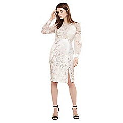 Phase Eight - Cream nissa floral dress with sleeves