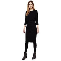 Phase Eight - Black rebecca ruche skirt dress