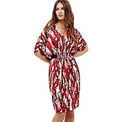 Phase Eight - Red georgia floral print dress