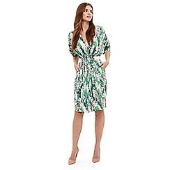 Phase Eight - Green georgia floral print dress