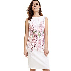 Phase Eight - Pale Pink and Ivory Jessica printed floral dress