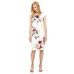Phase Eight - Cream sandy floral print dress