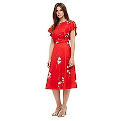 Phase Eight - Red beatrix floral printed dress