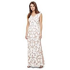 Phase Eight - Cream yvie tapework maxi dress
