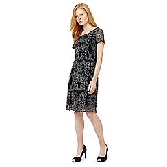 Phase Eight - Black tatiana embroidered dress