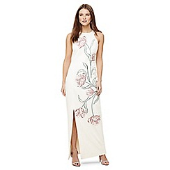 Phase Eight - Ivory zarah embroidered maxi dress