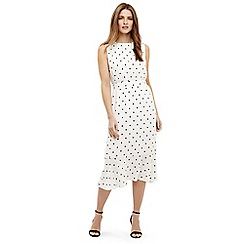 Phase Eight - Cream Alison spot dress