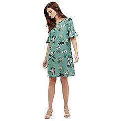 Phase Eight - Green chrissy botanical print dress