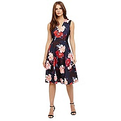 Phase Eight - Blue elba floral fit and flare dress