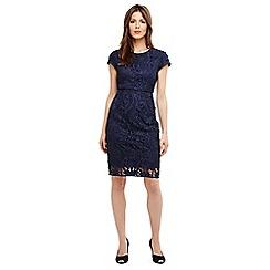 Phase Eight - Blue Anna leah cutwork dress