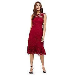 Phase Eight - Red sabby lace dress