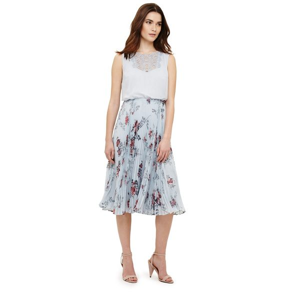 Phase patricia Eight dress pleated Green floral Bg1r7Bnq