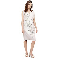 Phase Eight - Cream sorell wrap floral print dress