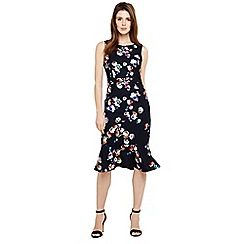 Phase Eight - Blue rosemont floral print dress