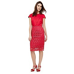 Phase Eight - Pink marlin lace dress