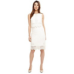 Phase Eight - Cream abrienne embroidered dress