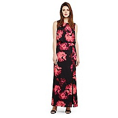 Phase Eight - Black ali floral printed maxi dress
