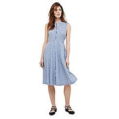 Phase Eight - Blue ajee stripe dress