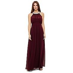 Phase Eight - Red peyton embellished maxi bridesmaid dress