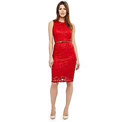 Phase Eight - Red alina embroidered dress