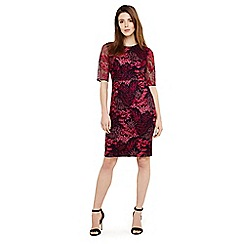Phase Eight - Red fern embroidered dress