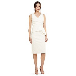 Phase Eight - Cream saskia scuba dress