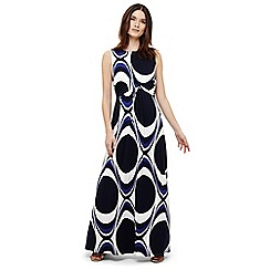 Phase Eight - Blue circles print maxi dress