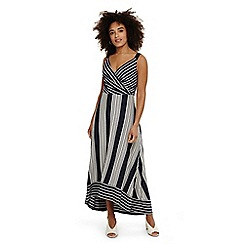 Phase Eight - Blue maisie striped maxi dress