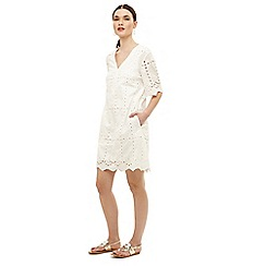 Phase Eight - White lilith cotton broderie dress