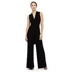 Phase Eight - Black tia sleeveless jumpsuit