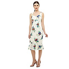 Phase Eight - Cream bethania floral dress