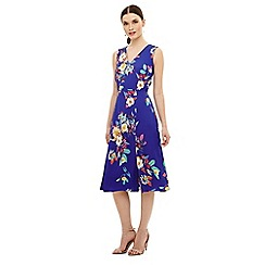 Phase Eight - Blue bellissa floral fit & flare dress