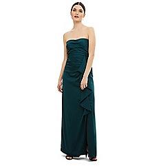 Phase Eight - Blue Nina frill maxi dress