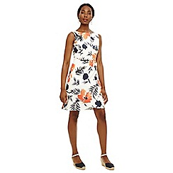 Phase Eight - Cream juana print dress