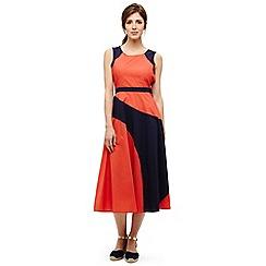 Phase Eight - Orange chelle colour block dress