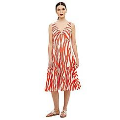 Phase Eight - White winona wave dress
